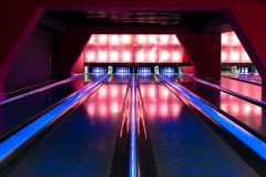 Picture of a modern bowling alley