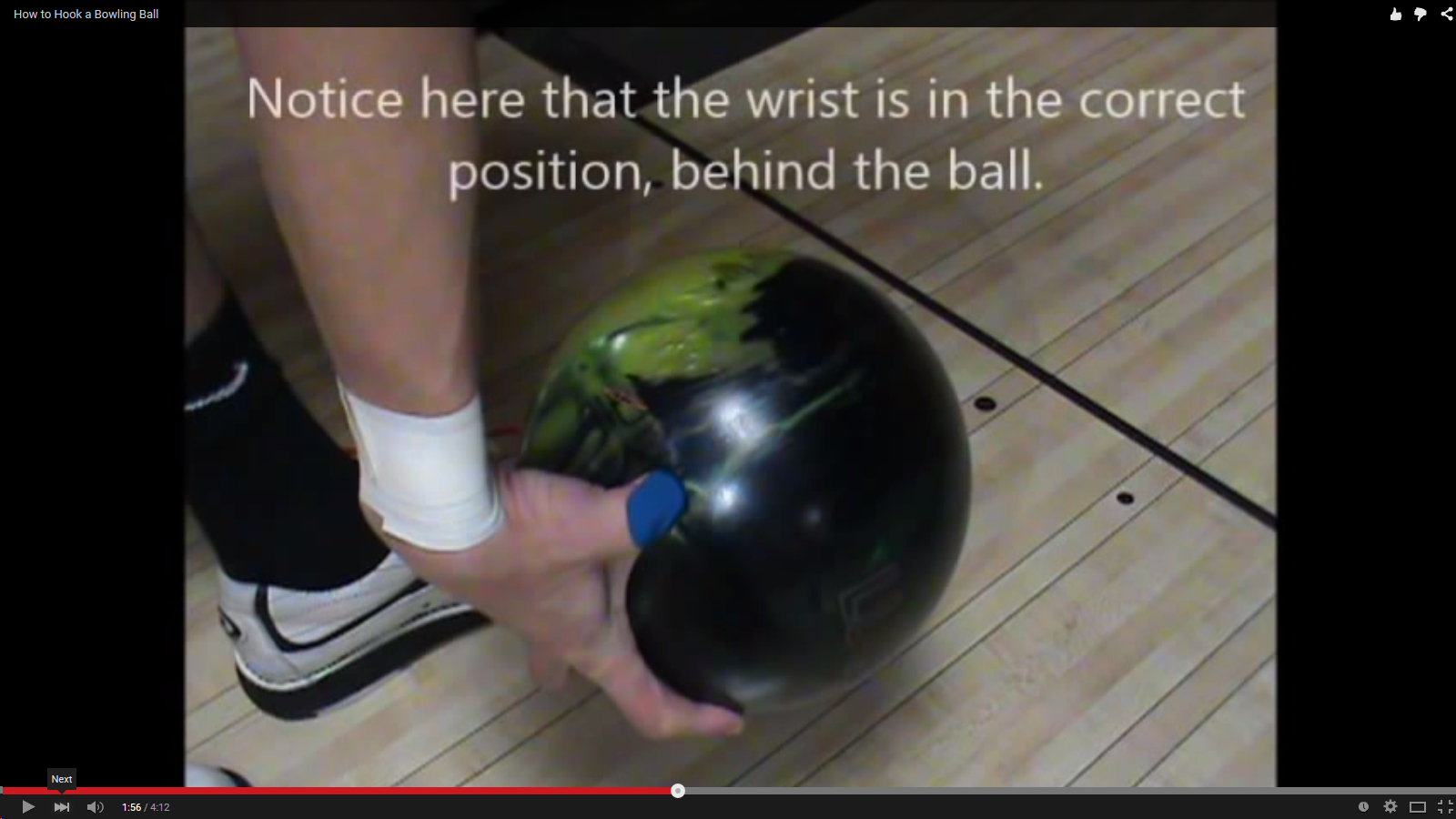 ... The Release in Hook Ball Bowling and proper position for good thumb  release.