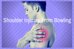 Image of man with his hand grabbing his red irritated Shoulder for Shoulder Injuries From Bowling Too Much