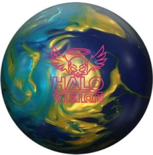 Bowling Ball Gold & Sky Blue Pearl/Purple Solid