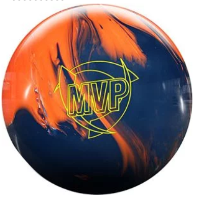 Orange Pearl -Blue Solid Bowling Ball