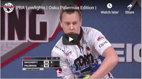 PBA Lowlights Of Osku Palermaa For Two Handed Bowling Tips