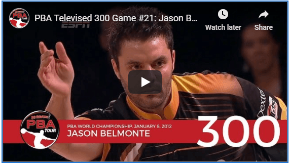 Image of Jason Belmonte's video For Bowling His 21St Televised 300 Game