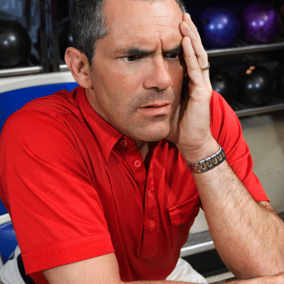 So You Bowled Terrible - Confused man in bowling alley