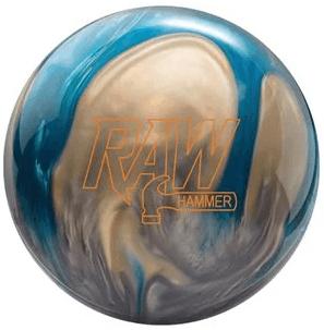 Raw Hammer Blue White Pearl Bowling Ball