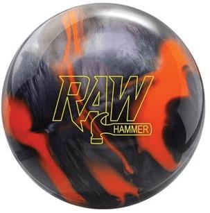 Raw Hammer Orange Black Hybrid Bowling Ball